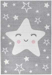 Dywan Happy Star Grey 140x200 Light Collection