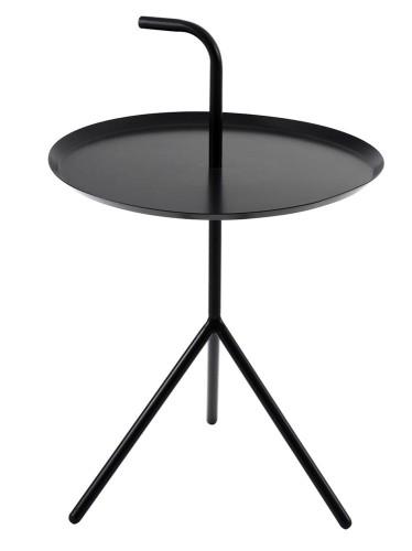 Stolik Blanco Kawowy Okrągły Czarny Metal Satynowy Roomzonepl