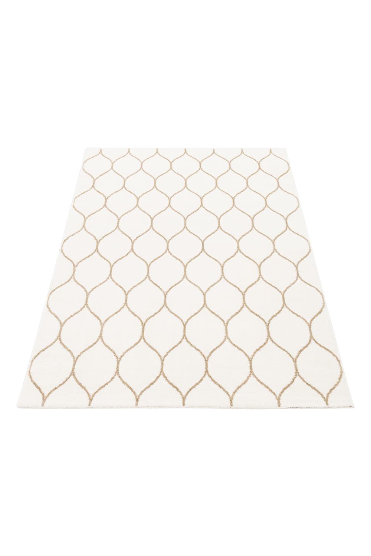 Dywan Emma Komfort 120x170 Biały Beż Koniczyna Marokańska