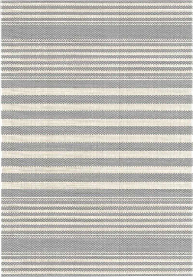 Dywan sznurkowy płasko tkany pętelka FELICITY 160x230 szary krem pasy 20408932